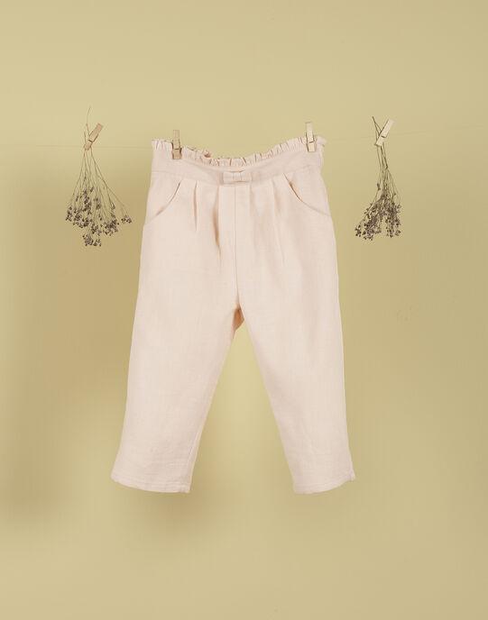 Pantalon rose fille TIMBALOU 19 / 19VU1921N03D300