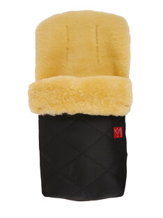 Chancelière universelle mouton peau lainée bio Kaiser noire & beige CHANCEL MOUTON / 11PBPO008CHL999