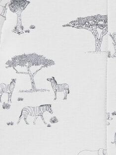 Tee-shirt garçon imprimé gris brume manches longues coton pima  COME 21 / 21VV2311N0FJ919