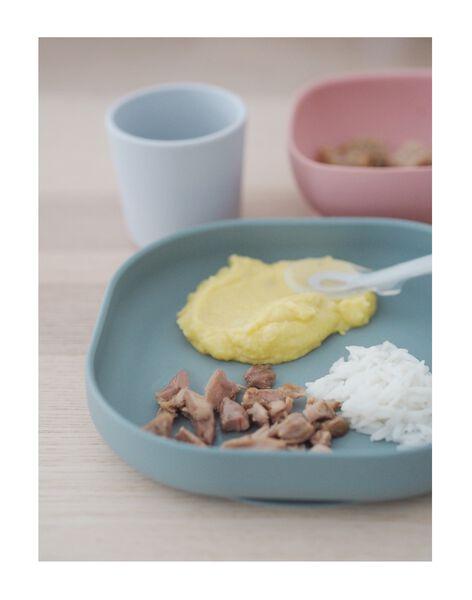 Coffret repas silicone 4 pieces  eucalyptus COFF SILI 4 EUC / 21PRR2007CRE999