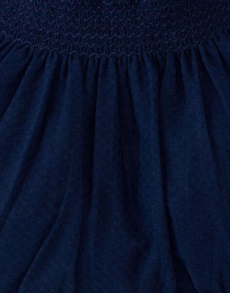 Bloomer fille marine smocké en coton  AGNES 20 / 20VV2211N25070