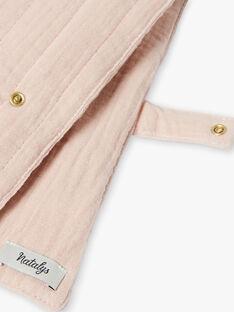 Protège carnet de santé rose en gaze de coton matelassé fille  KLAIRE-EL / PTXQ6212N68030