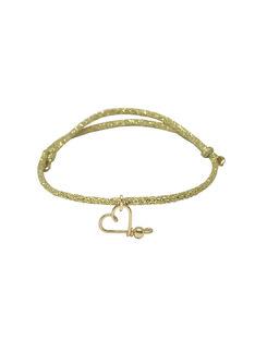 """Bracelet """"Mon cœur"""" Padam Padam à paillettes doré 1,5x6,5x5 cm COEUR DORE DORE / 19PCTE008BIJ999"""