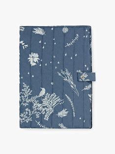 Protège carnet de santé bleu horizon en popeline de coton matelassé imprimée mixte  RUBIN-EL / PTXQ6418N68216
