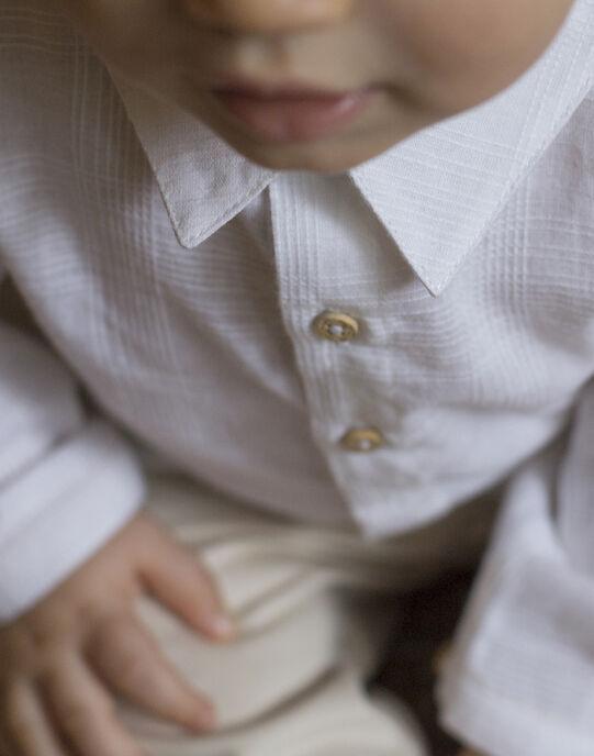 Chemise blanche garçon TED 19 / 19VU2014N0A000
