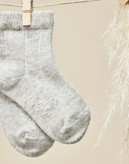 Chaussettes gris chiné fille  VELISON 19 / 19IV6812N47943
