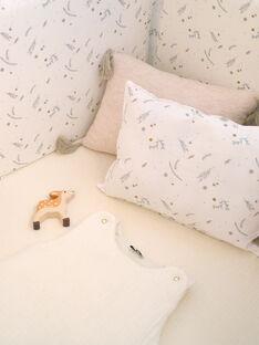 Coussin blanc à imprimé fleuri PRUDENCE-EL / PTXQ6212N99632