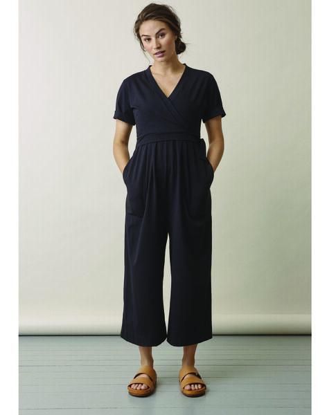 Salopette de grossesse & allaitement coton bio Amelia Boob noire BOAMELIA / 20VW2641N42090