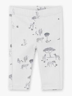 Leggings garçon imprimé gris brume coton pima  CEDRIC 21