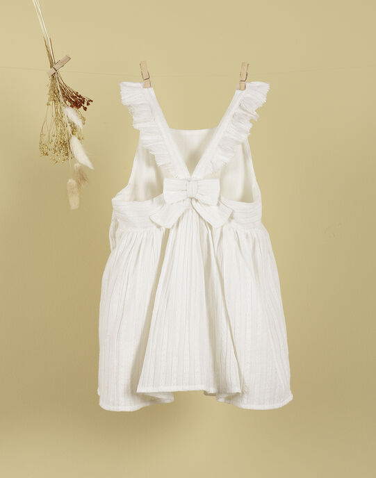 Robe blanche dos nu à volants fille TARYA 19 / 19VU1915N18000
