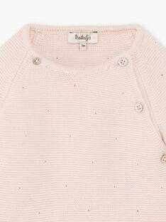 Gilet fille croisée tricot couleur rose nude DAPHNEE 21 / 21PV2212N2A301