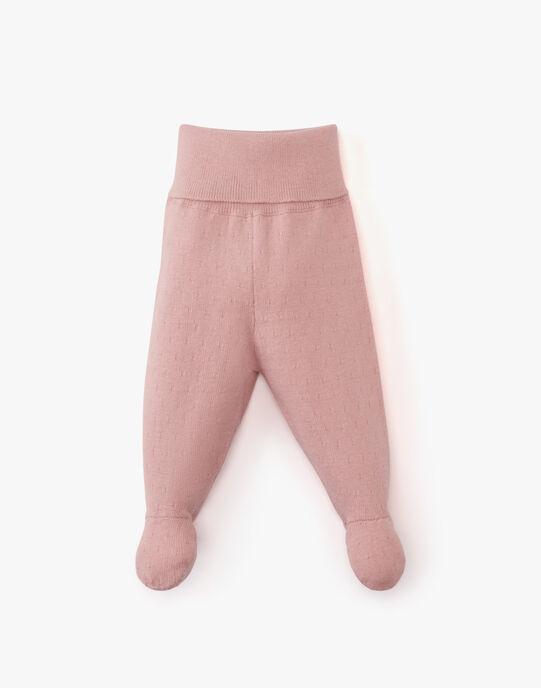 Pantalon à pieds fille en coton cachemire rose ALAIS 20 / 20PV2211N3AD312