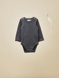 Body tee-shirt gris anthracite chiné bébé garçon   VRAPO 19 / 19IU2013N67944