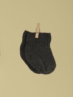 Chaussettes de naissance grises anthracite mixte TABOULET 19 / 19PV7026N47944
