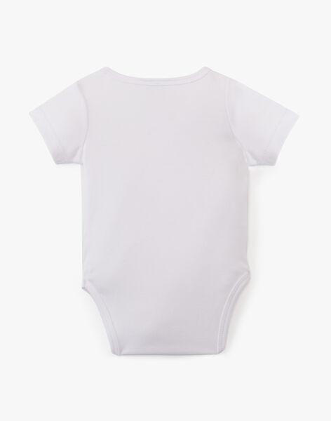 Body mixte blanc en coton pima ADI 20 / 20PV7512N2D000