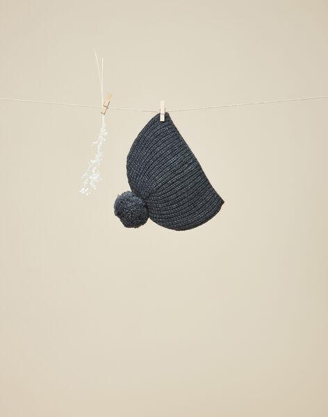 Bonnet en tricot gris anthracite garçon  VILAVI 19 / 19IU6133N49944