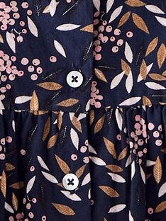Robe fille bleu en imprimé fleuri   BELINDA 20 / 20IU1953N18C205