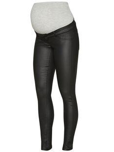 Jeans de grossesse slim enduit Mamalicious noir MLRAM SLIM 2 / 17PW26X6N44704