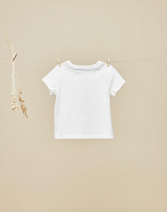 Tee-shirt manches courtes vanille bébé garçon VENANCE 19 / 19IU2011N0E114