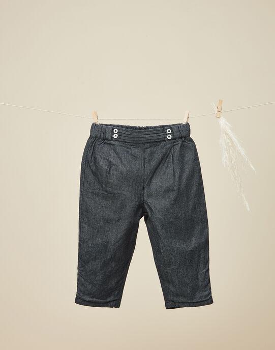 Pantalon denim noir fille  VAINA 19 / 19IU1933N03K003