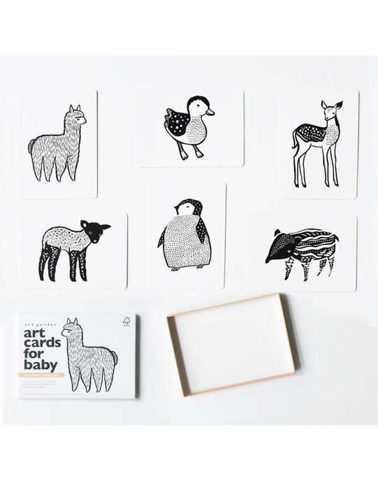 Cartes d'éveil animaux Wee Gallery noires & blanches 18x13x2 cm 0-3 ans CARTE BB ANIM / 19PJJO021AJV999