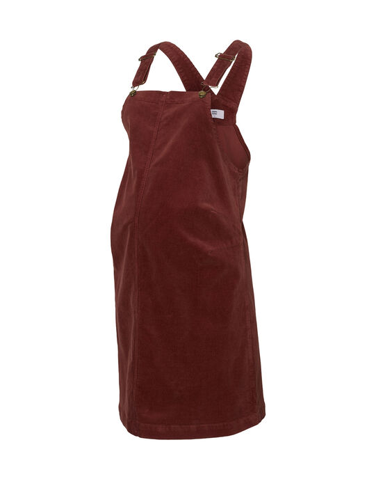 Robe de grossesse chasuble Mamalicious bordeaux MLNASSAU ROBE / 19IW2664N18503