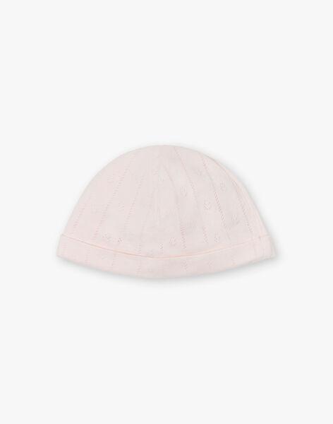 Bonnet naissance fille nude en ajouré fantaisie coton pima   DELICE 21 / 21PV6812N63D319