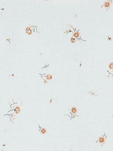 Grenouillère fille vanille en interlock imprimé fleurs DOUCE 21 / 21PV7114N31114