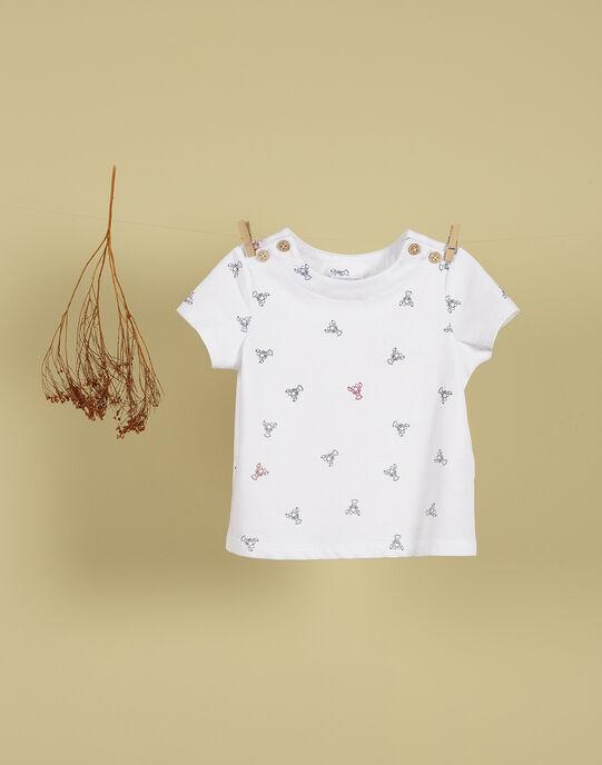 T-shirt blanc imprimés garçon TONG 19 / 19VU2011N0E000