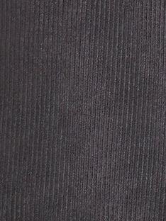 Salopette longue grise en velours cotelé garçon BEAUREGARD 20 / 20IU2081N05631