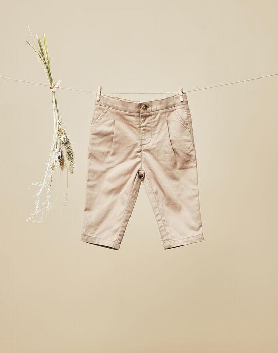 Pantalon beige chevrons bébé garçon VISCONTI 19 / 19IU2013N03806