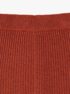 Caleçon fille rouge brique en côtes coton laine  BELA 20 / 20IU1951N3A506