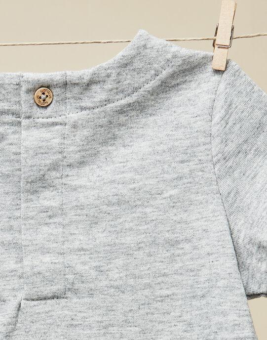 Tee-shirt manches courtes gris chiné bébé garçon  VASILE 19 / 19IU2012N0E943
