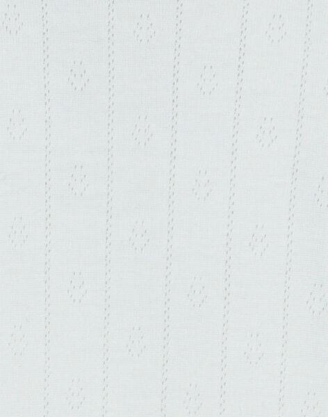 Grenouillère fille vanille dans un bel ajouré coton pima DOMI 21 / 21PV7111N31114