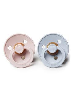 Duo de sucettes T2 Bibs grise & rose 6-18 mois SUC 2 CLOUD BLU / 19PRR1010SUC999