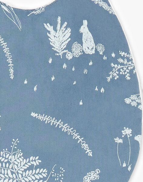 Bavoir bleu horizon en popeline de coton mixte  RALPH-EL / PTXQ641BN72216