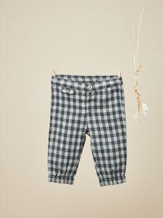 Pantalon à carreaux gris anthracite garçon   VIVALDI 19 / 19IU2031N03944