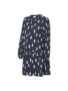 Robe bleue à imprimés blancs de grossesse et d'allaitement MLGAIL DRESS / 19VW2684N18705