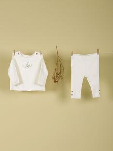 Ensemble tee shirt et pantalon vanille mixte TAELOUAN 19 / 19PV2422N19114