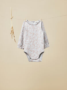 Body manches longues gris chiné bébé fille VAJESSIE 19 / 19IU1913N67J920