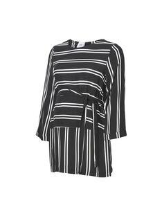 Blouse à rayures noires et blanches de grossesse MLEBONY TOP / 19VW2682N09090