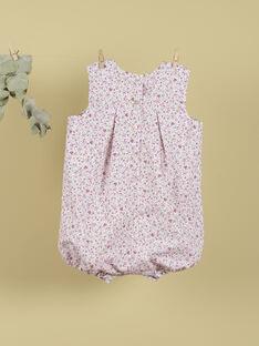Combinaison fleurie rose fille TELARBOTE 19 / 19VU1932N26030
