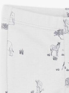 Leggings garçon imprimé gris brume coton pima  CEDRIC 21 / 21VV2311N04J919