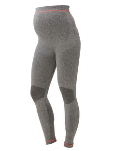 Legging en maille Noos Mamalicious gris chiné NOOS MLFIT LEGG / PTXW2611N3A943