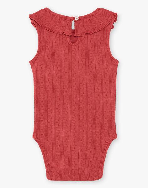 Body fille sans manches grenat en coton pima  CORINE 21 / 21VU1921N70511