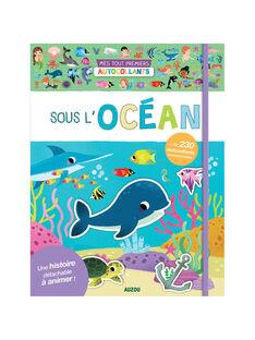 """Cahier """"Mes tout-premiers autocollants : sous l'océan"""" Auzou 26x20x0,2 cm dès 3 ans SOUS L OCEAN / 19PJME012LIB999"""