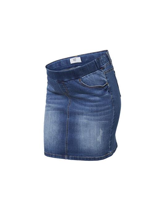 Mini-jupe de grossesse en jean bleu MLMONTEGO SKIRT / 19VW2681N07704