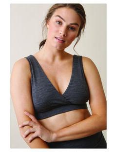 Soutien-gorge de grossesse & allaitement laine mérinos bio Boob gris BOMERINO WOOL B / PTXW2714N45J921