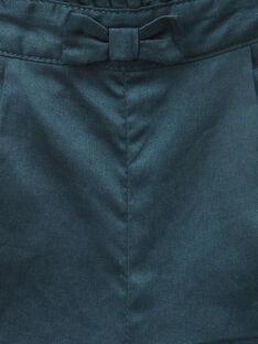 Pantalon en satin de coton vert émeraude fille  VANINA 19 / 19IU1932N03608