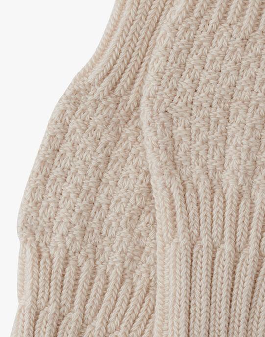 Chaussette mixte beige en tricot AUBILLE 20 / 20PV7017N47A013